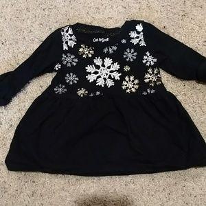 Long sleeve snowflake dress